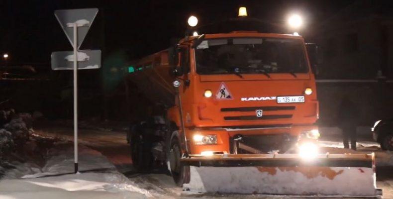Уборка снега в Каскелене
