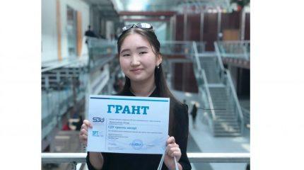 Алматылық Айнұр грант ұтып алып, рекорд орнатты