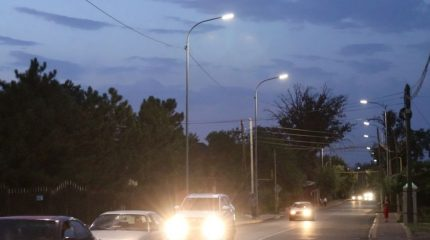 Благоустройство Каскелена: освещение (Видео)